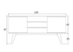 Rack Br115 1,34 2 Portas Branco Estilare Móveis