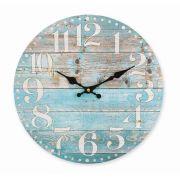 Relógio de Parede Blue 34cm MDF Hauskraft