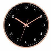 Relógio de Parede Black e Cobre 35cm Btc Decor