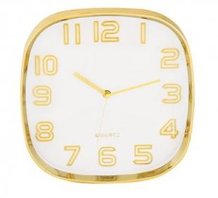 Relógio de Parede Branco e Dourado 9405 Mart