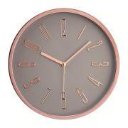 Relógio de Parede Cinza e Rose Gold 10086 Mart