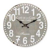 Relógio de parede Gray 34cm MDF Hauskraft