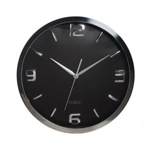 Relógio de Parede Metal Shiny Números Prata Relevo Btc Decor