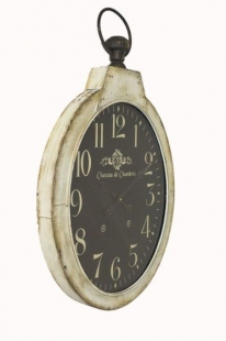 Relógio de Parede Oval Fundo Escuro Goods Br