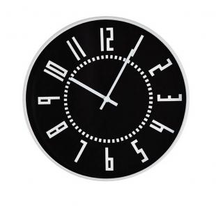 Relógio de Parede Preto e Branco 12946 Mart
