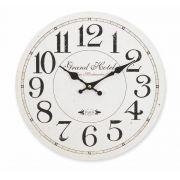Relógio de parede Vintage 34cm MDF Hauskraft