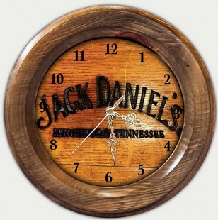 Relógio Decorativo Jack Daniels Vintage Concept