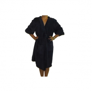 Roupão Microfibra Sofisticata Kimono Marinho GG Atlântica