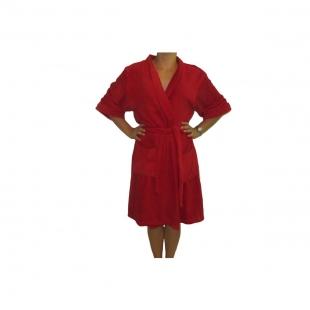 Roupão Microfibra Sofisticata Kimono Vermelho G Atlântica