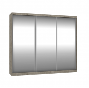 Roupeiro 3 Portas Com Espelho de Correr 2,22m Demolição Foscarini
