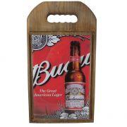 Tábua de Cozinha Madeira e Vidro Budweiser Vintage Concept