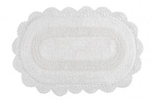 Tapete Croche Oval 50x80 Branco Kacyumara