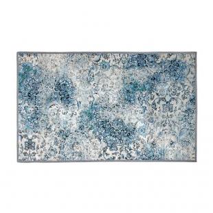 Tapete Mônaco 0,70mx1,0m Batik Azul Kacyumara