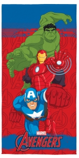 Toalha Aveludada Estampada Avengers 70x140cm Lepper