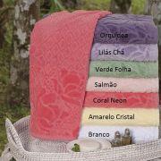 Toalha Banho 100% Algodão Flores Na Varanda Cores Sortidas Atlântica
