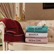 Toalha Banho Safira 68 x 140 cm Rosa Chá Appel