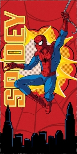 Toalha de Banho Estampada 60x120cm Spider-Man Lepper
