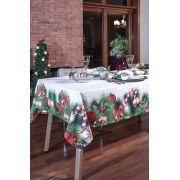 Toalha de Mesa Linha K Digital Natalina 220x220 Kacyumara