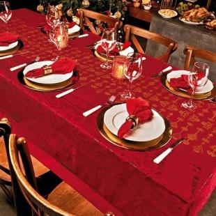Toalha de Mesa Renda Natal 1,55x2,50cm Lepper