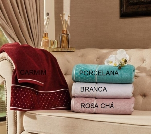 Toalha Rosto Safira 50 x 75 cm Rosa Chá Appel