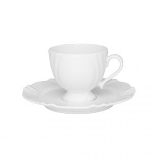 Xícara Chá 200ml Com Pires 17cm Soleil White Oxford