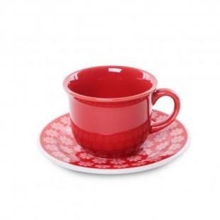 Xícara Chá Com Pires 200ml Daily Floreal Renda 15cm Oxford