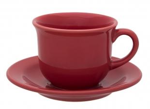 Xícara Chá Com Pires 200ml Floreal Red Oxford