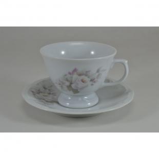 Xícara Chá Pires 20 Linha Pomerode Eterna Porcelana Schmidt