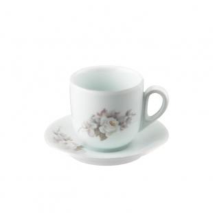 Xícara Chá Pires 25 Linha Pampa Eterna Porcelana Schmidt