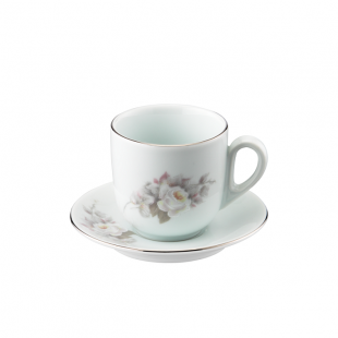 Xícara Chá Pires 25 Linha Pampa Vitória Porcelana Schmidt
