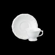 Xícara Chá Pires 20 Linha Pomerode Branco Porcelana Schmidt
