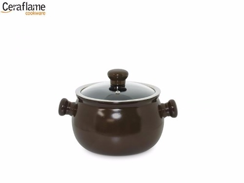 Caçarola Premiere 18cm Cerâmica Chocolate Ceraflame