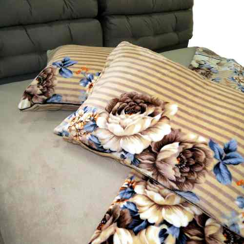 Jogo De Cama Microfibra Plush Fleece Estampado Queen 4pc