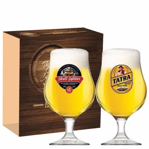 Jogo Taças Cerveja Bélgica Decorado 400ml 2 Peças Ruvolo
