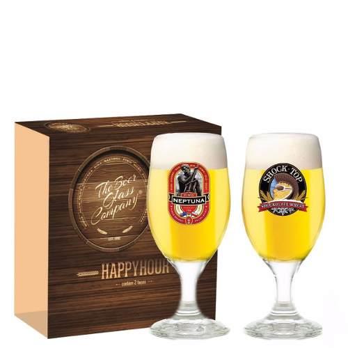 Jogo Taças Cerveja Roma Decorado 330ml 2 Peças Ruvolo