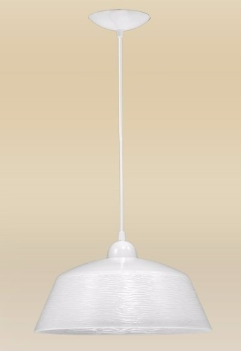 Pendente Bárbara 1 Lâmpada Cúpula 35cm Alumínio Branco Madelustre