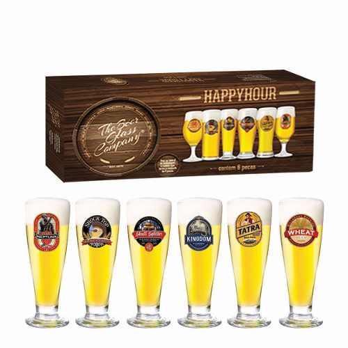 Jogo Copos Cerveja Roma Decorado 300ml 6 Peças Ruvolo