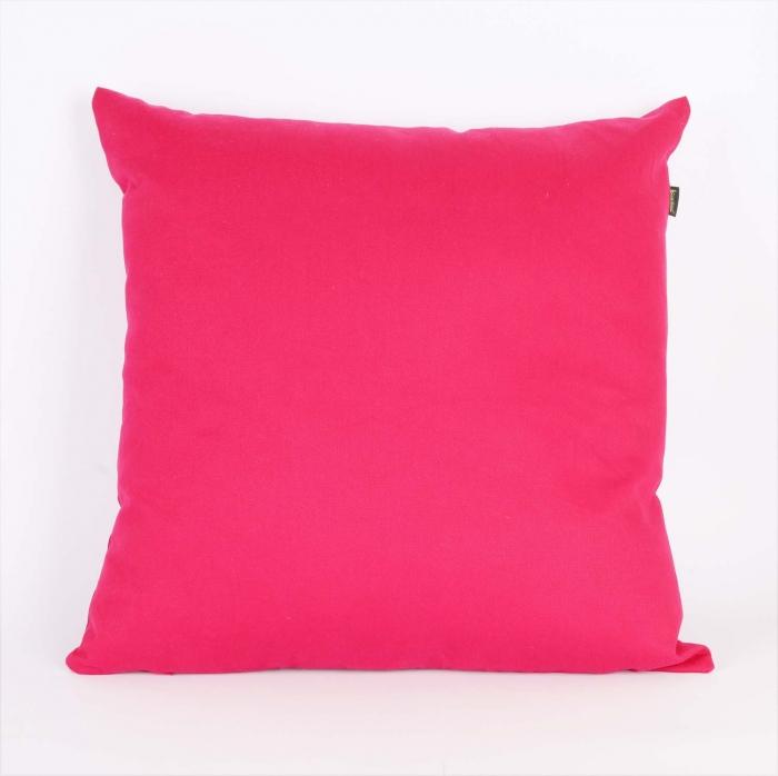 Almofada 45x45cm Com Enchimento Sarja Lisa Pink Cortbras