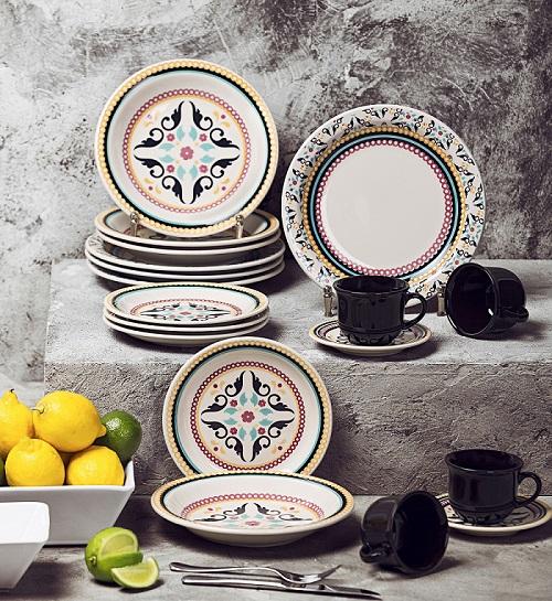Aparelho Jantar Chá Floreal Luiza 20pc Oxford