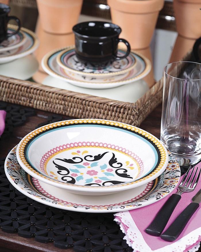 Aparelho Jantar Chá Floreal Luiza 30pc Oxford