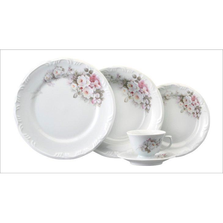 Aparelho Jantar Chá Pomerode Eterna 30pc Porcelana Schmidt
