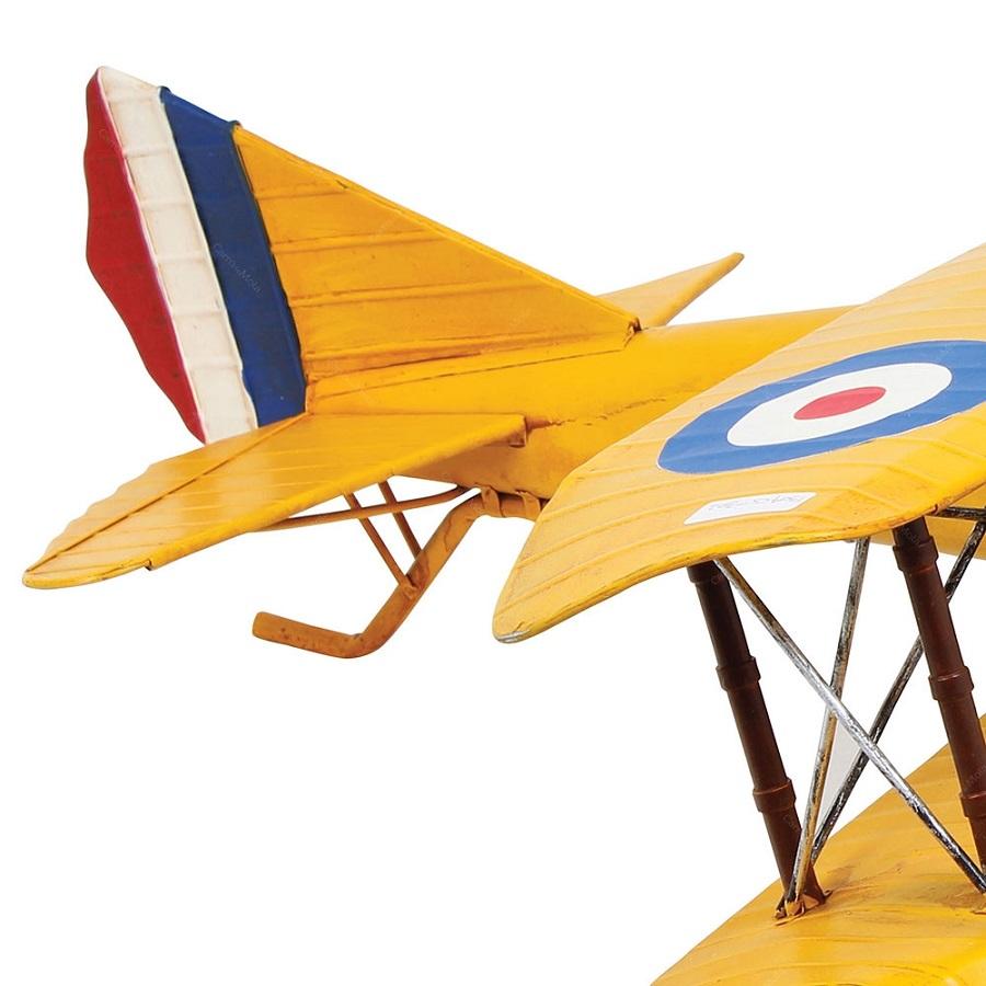 Avião Decorativo Amarelo Metal Goods