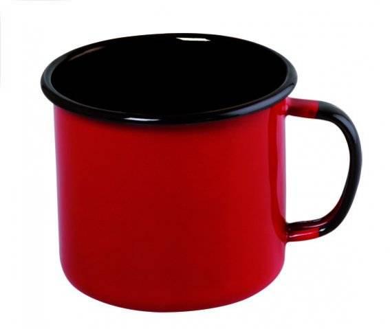 Caneca Aço Esmaltado 8cm 370ml Vermelho Ewel