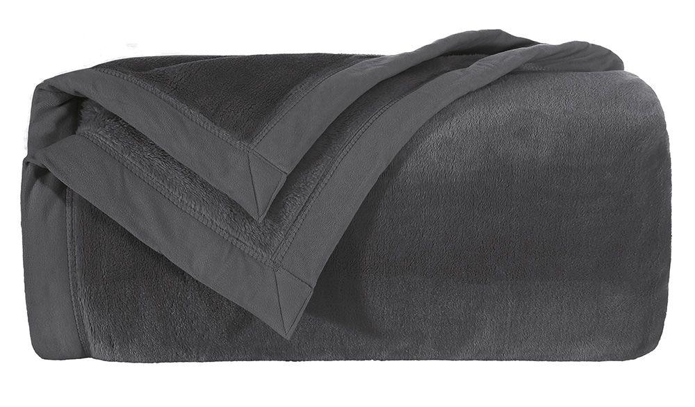 Cobertor Blanket 600 Preto Queen Kacyumara