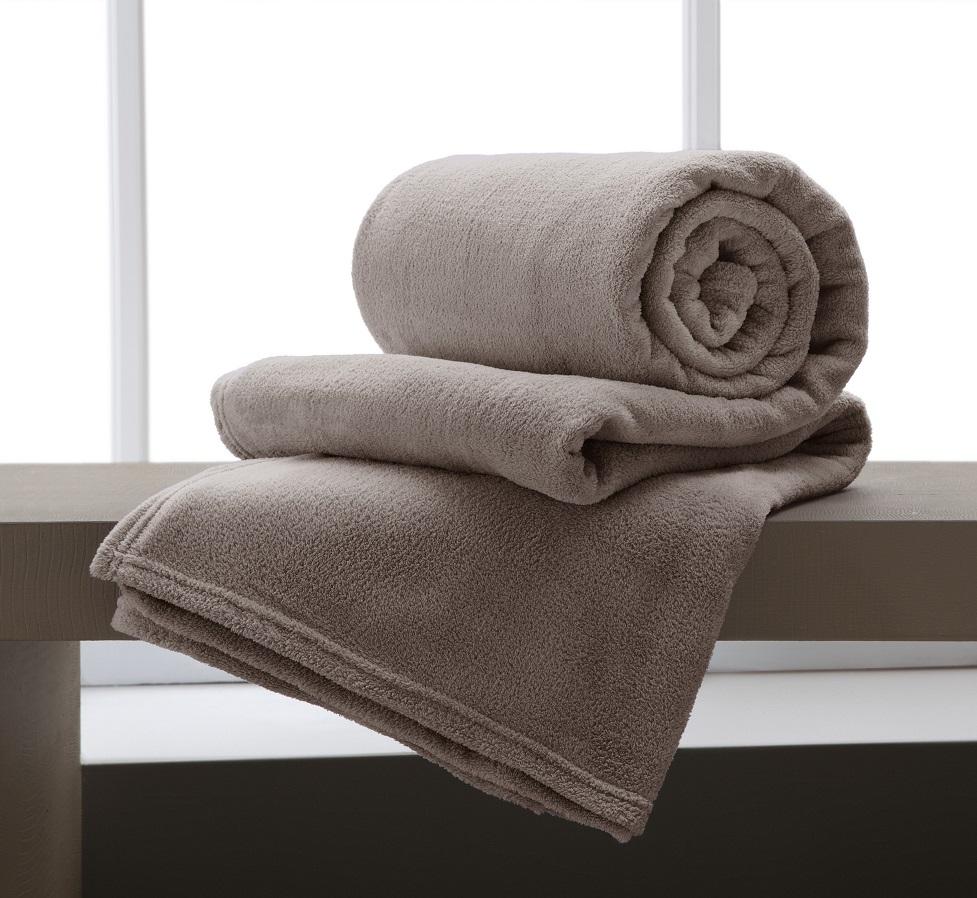 Cobertor Microfibra King 220x240cm Home Design Taupe Corttex