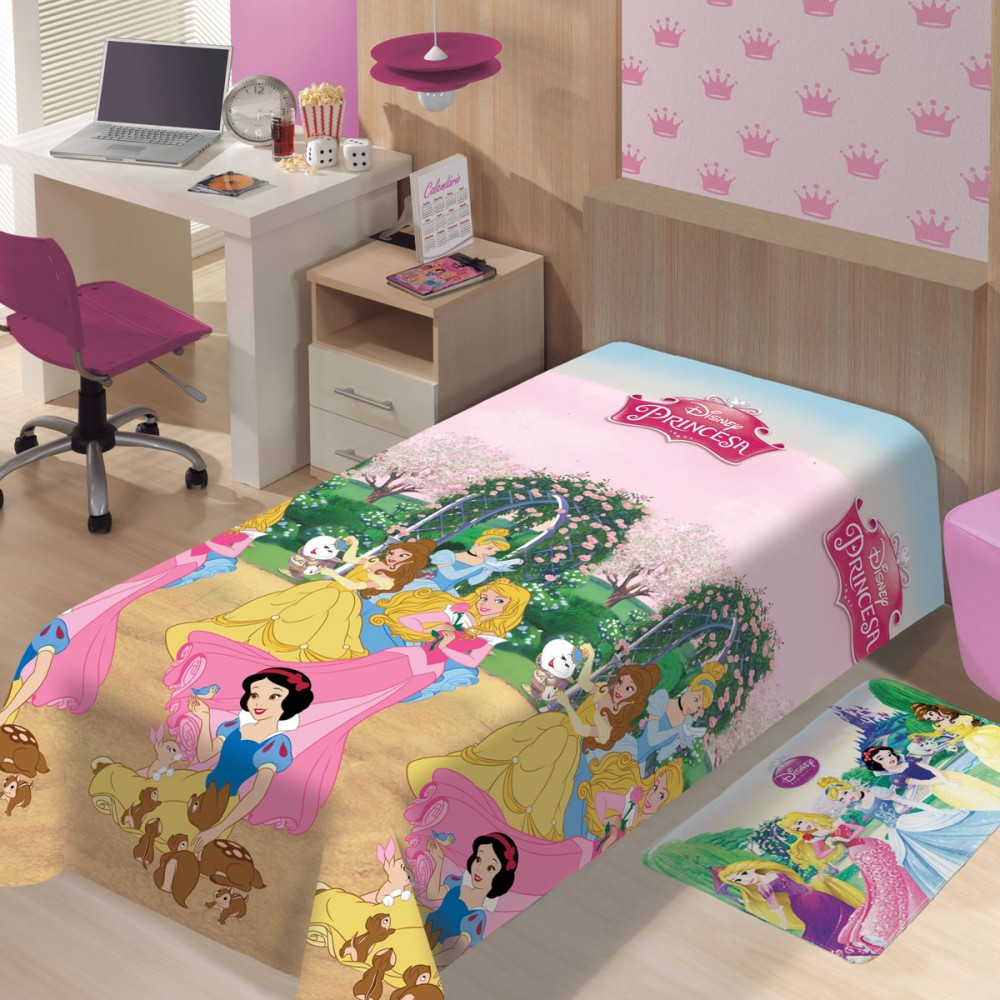 Cobertor Microfibra Solteiro Disney Princesas Jardim Jolitex Ternille
