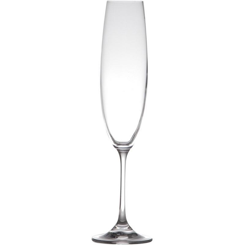 Conjunto com 6 Taças de Vidro para Champagne 250ml Barbara Lyor