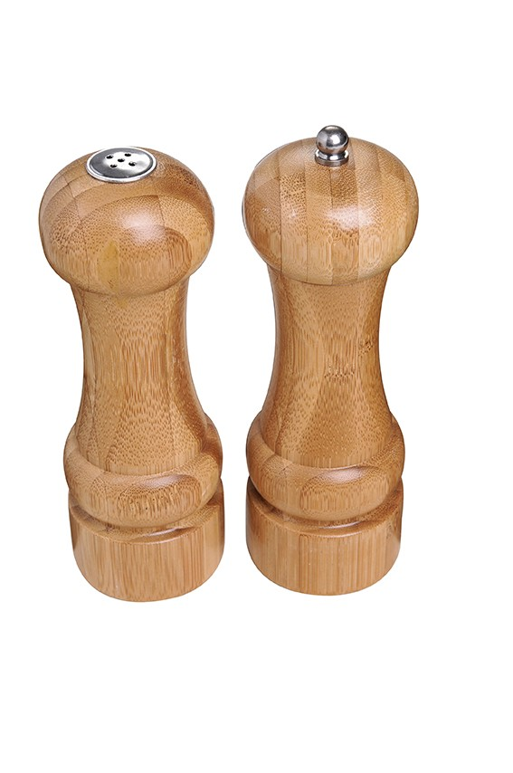 Conjunto Moedor De Pimenta E Saleiro Bamboo Mor