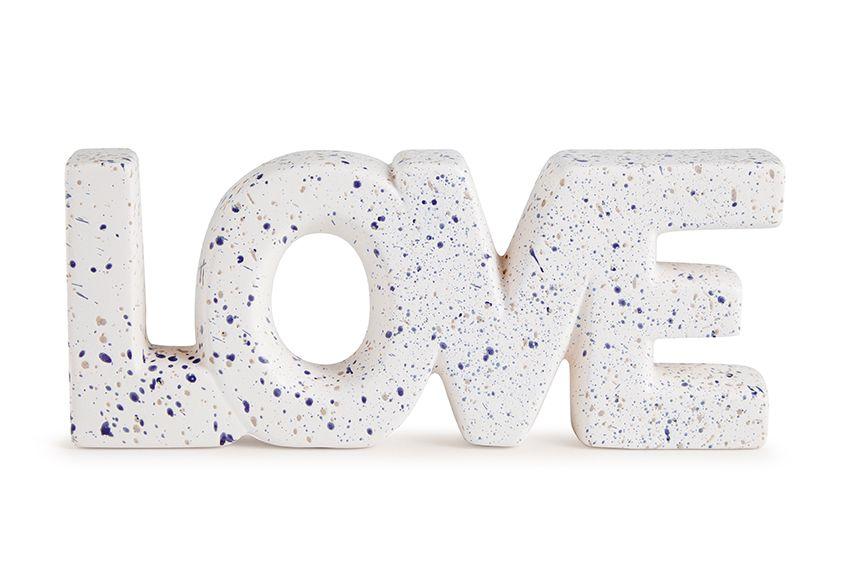 Decor Love Branco em Cerâmica 11282 Mart