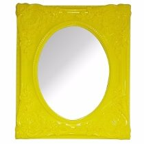 Espelho Urban Rococó Provençal Amarelo Urban Brasil
